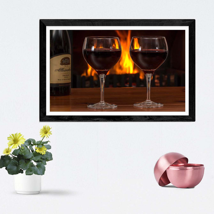 Wine Glass Alcohol Framed Photography