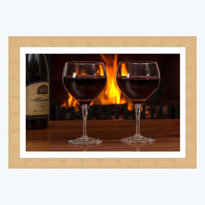 Wine Glass Framed Photography