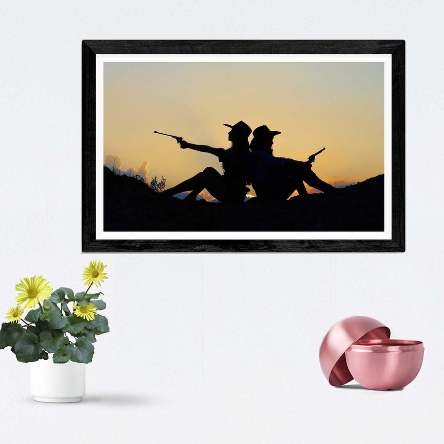 Cow Boy & Girl Framed Photography