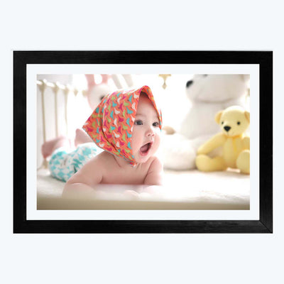 Baby Playing Baby Framed Photography