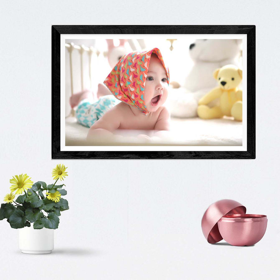 Baby Playing Framed Photography