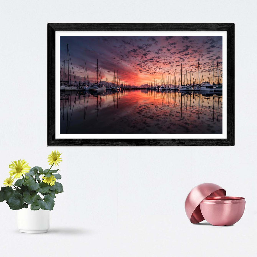Lake View Framed Photography