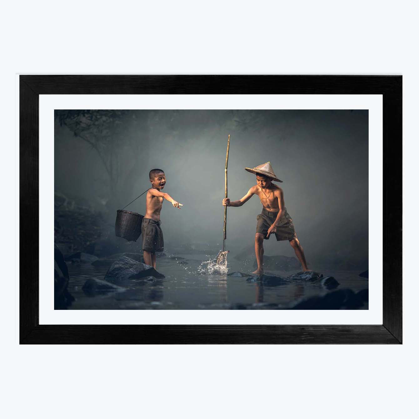 Fishing Boy  Framed Photography