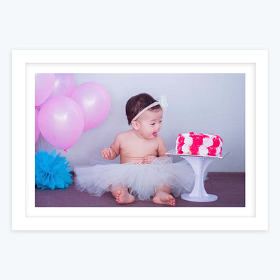 Cake Lover Baby Framed Photography