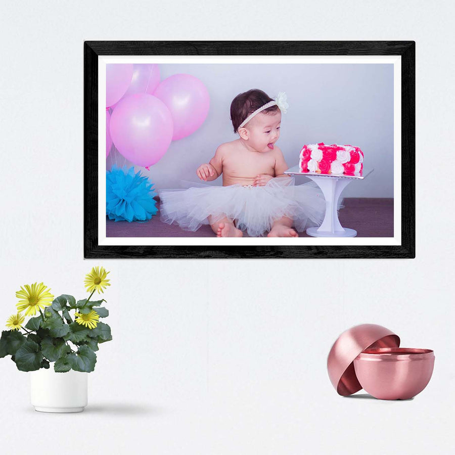 Cake Lover Baby Baby Framed Photography