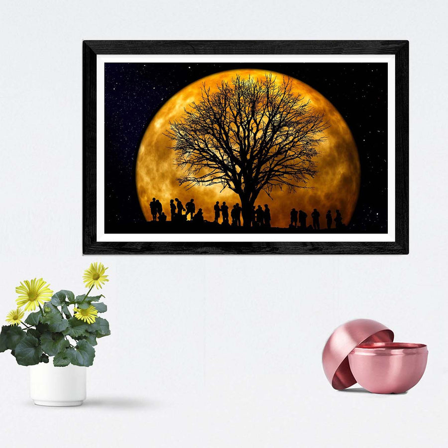 Night Scene Framed Photography