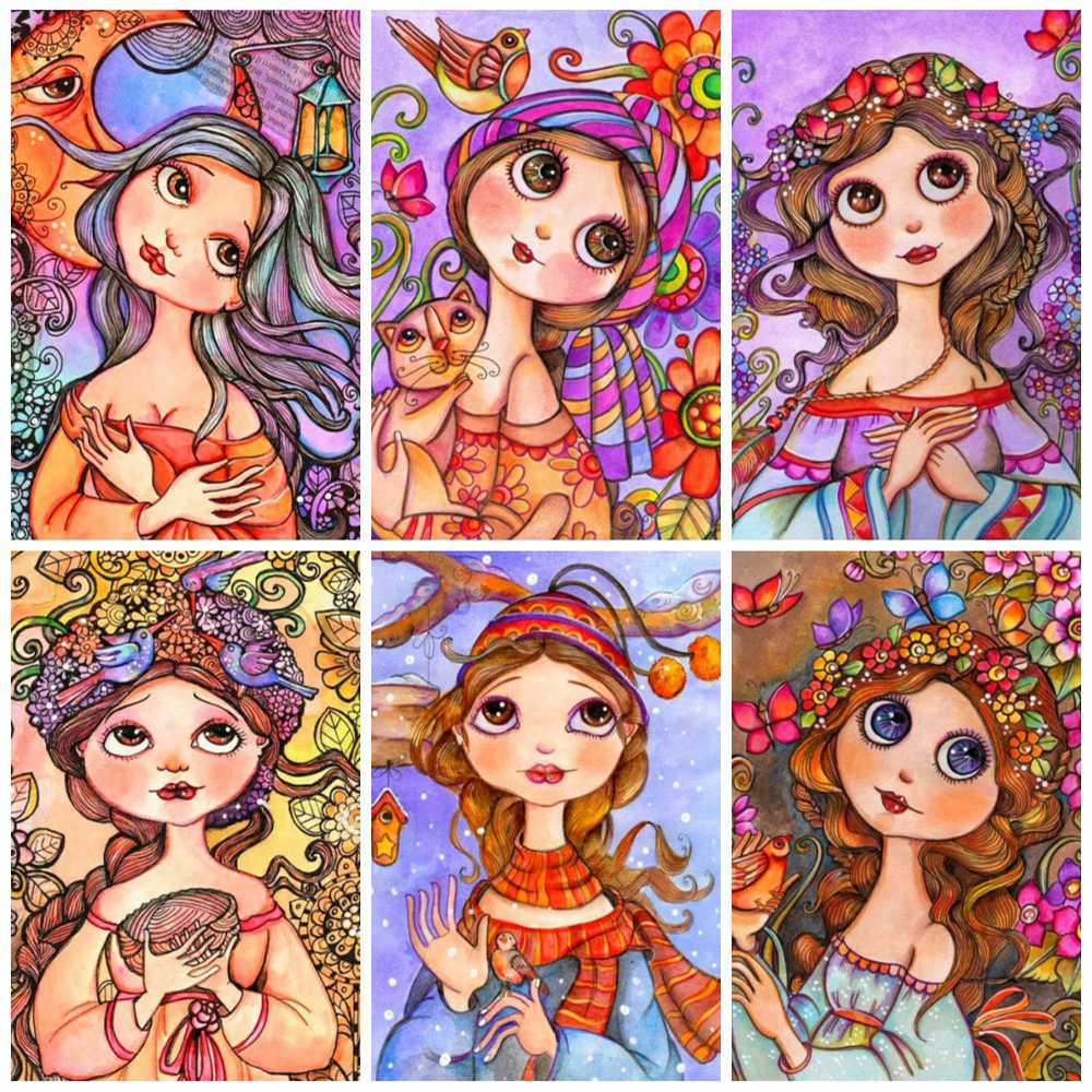 Animated Girl Collage