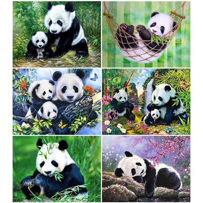 Pandas Collage Set