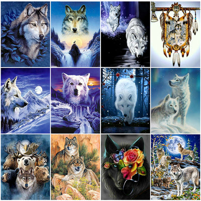 Wolves Collage Set