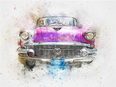 Vintage Cars Collage