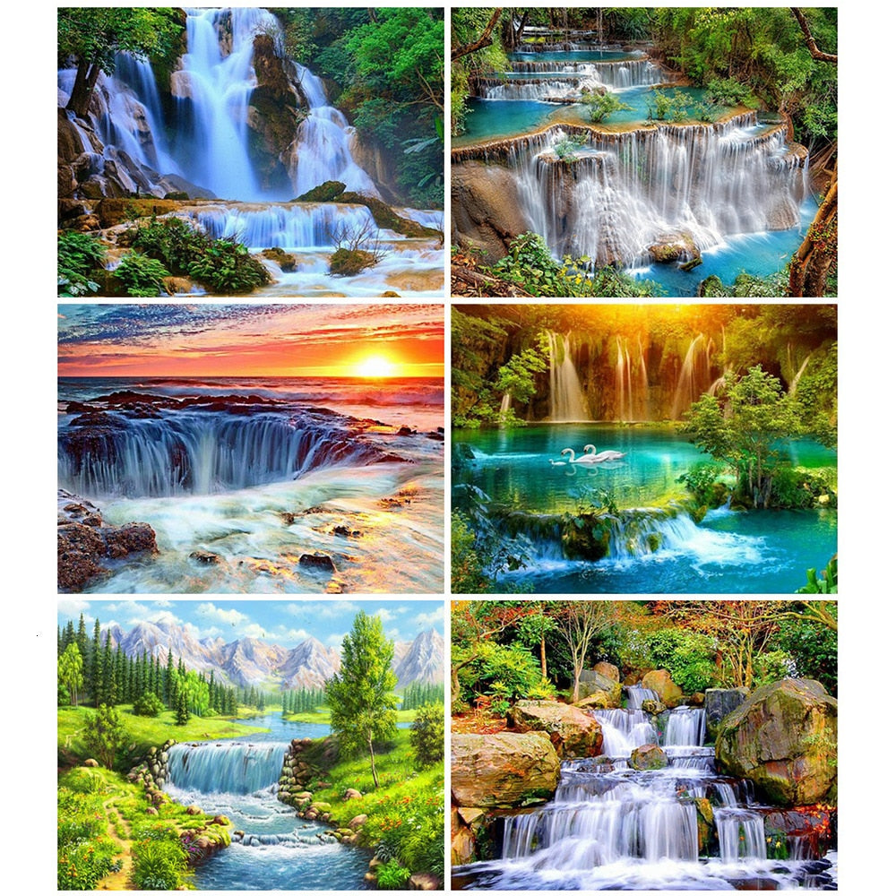 Waterfalls And Landscape