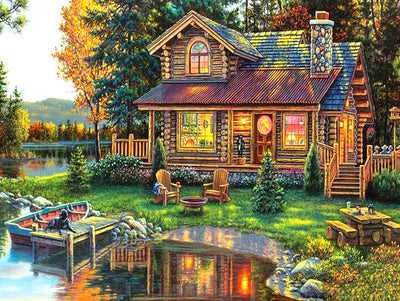 Log Home Scenery