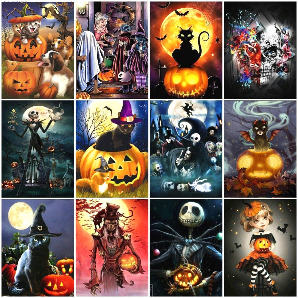 Big Halloween Collage Set