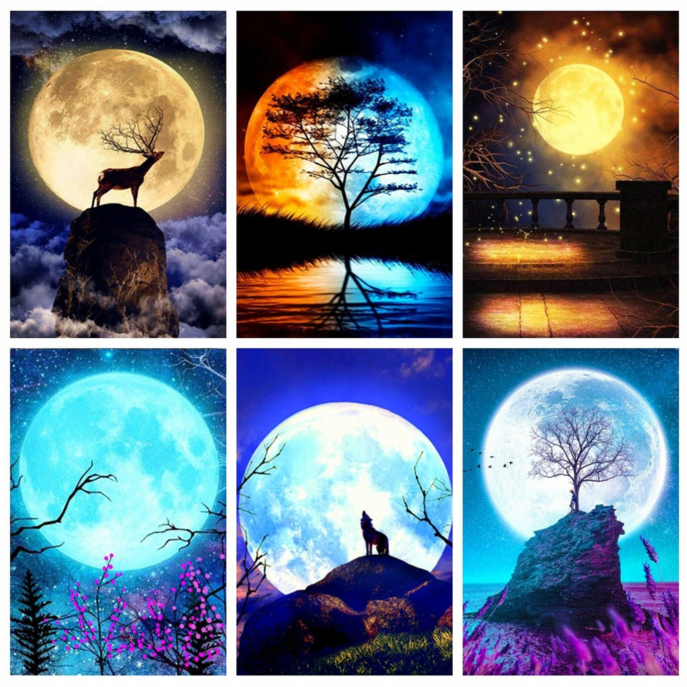 Moon Collage Sets