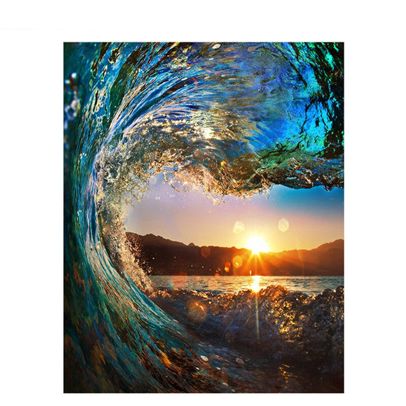 Waves And Sunset