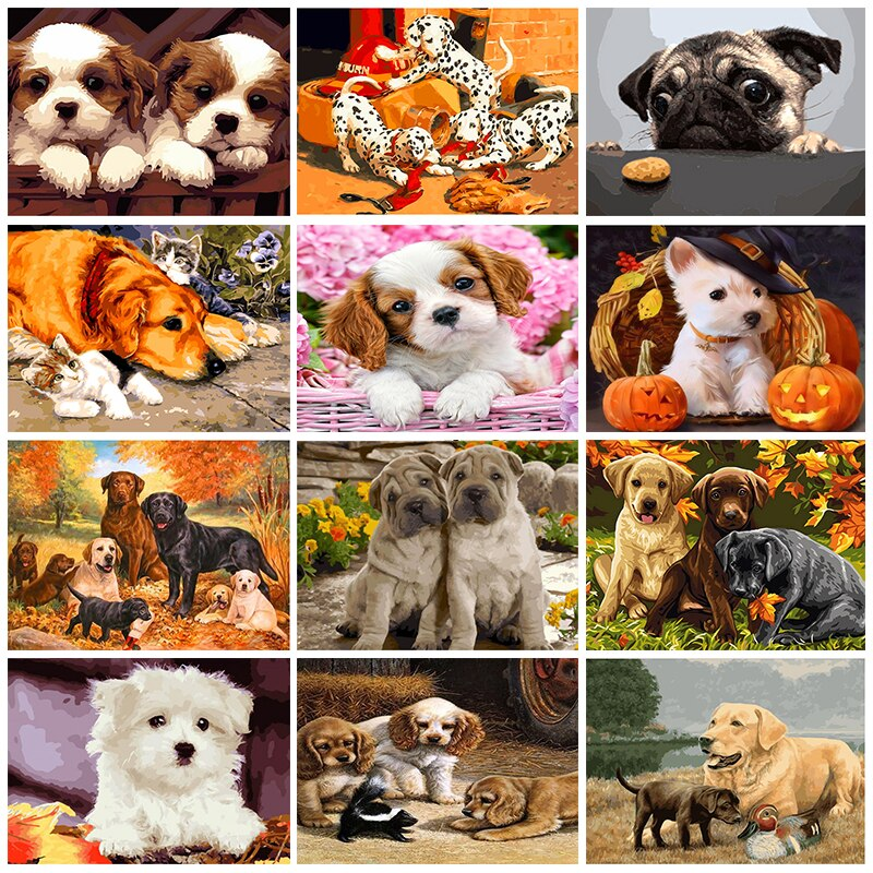 Puppies Collage Set