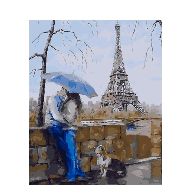 Lovers At Eiffel