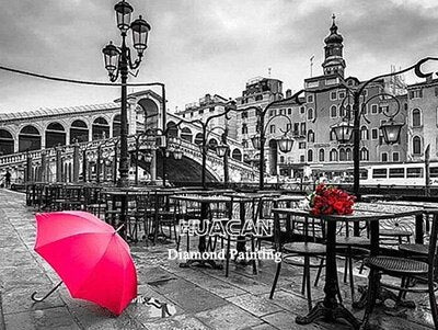 Red Umbrella Scenery