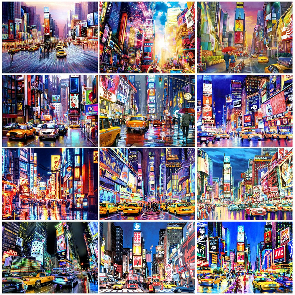 Colorful Cities Collage