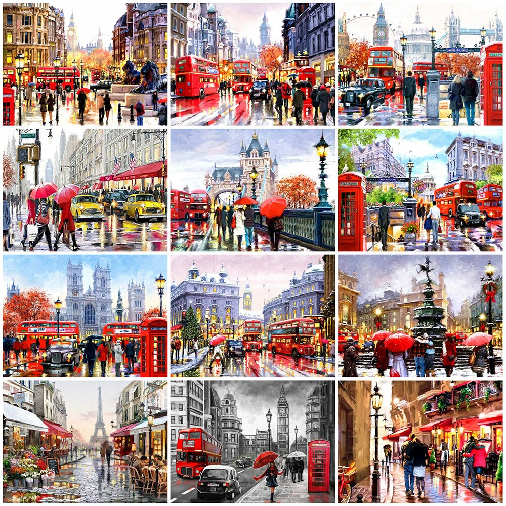 Famous Cities Collage