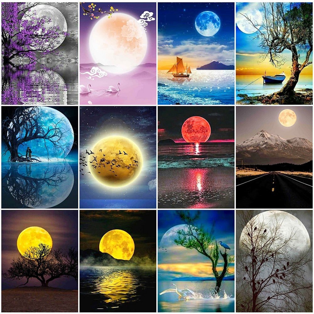 Full Moon Collage