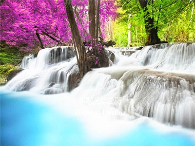 Colorful Waterfalls