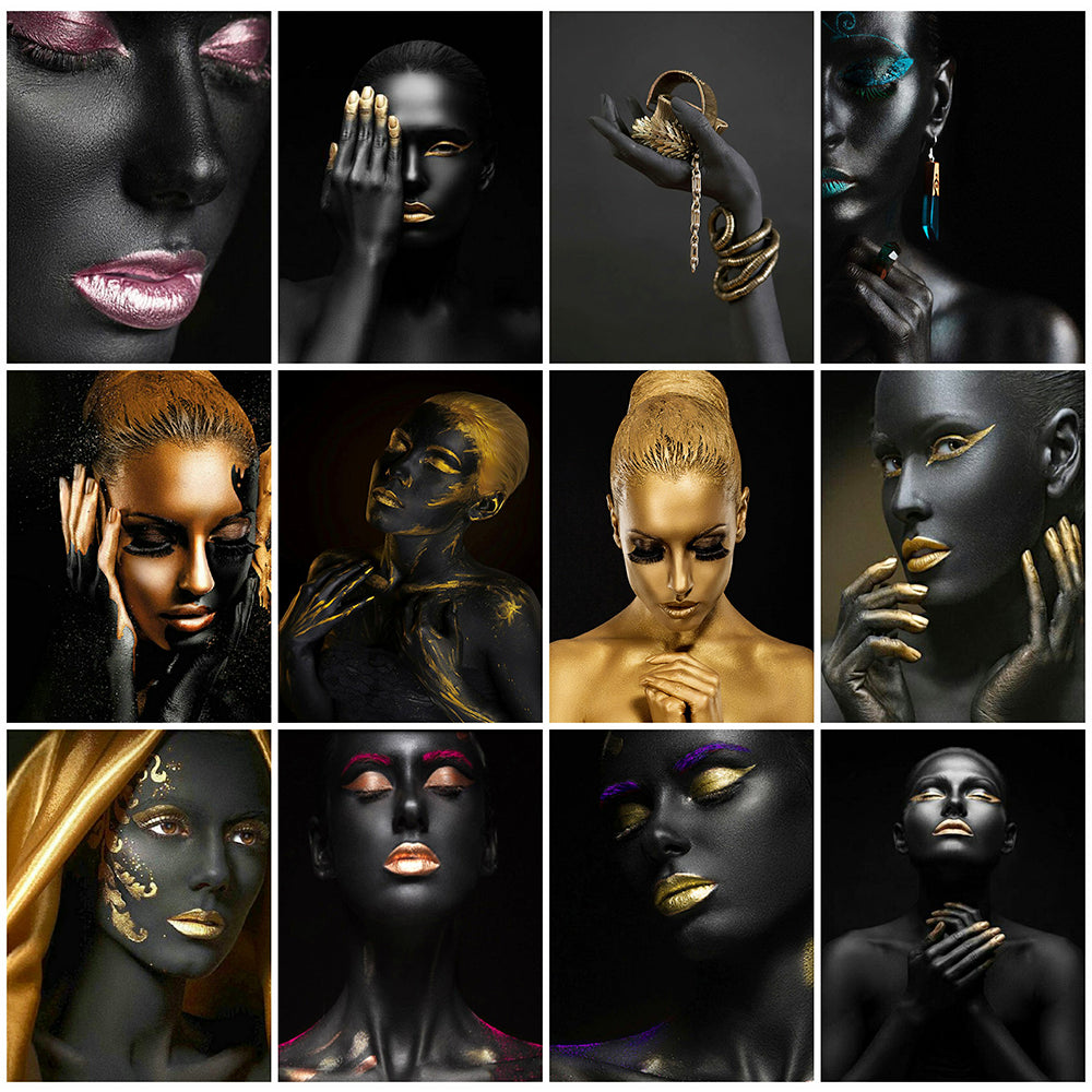 Black And Gold Portraits