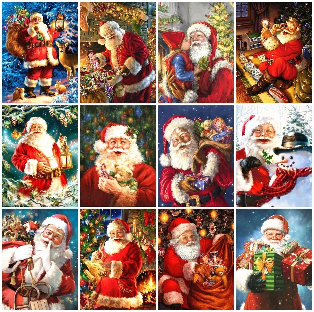 Santa Claus Collage Set