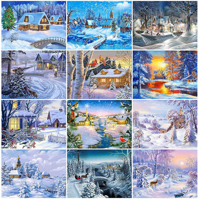 Winter Scenery Collage