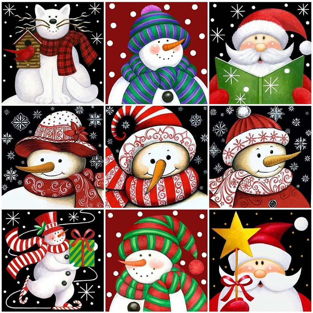 Snowman Illustration Set
