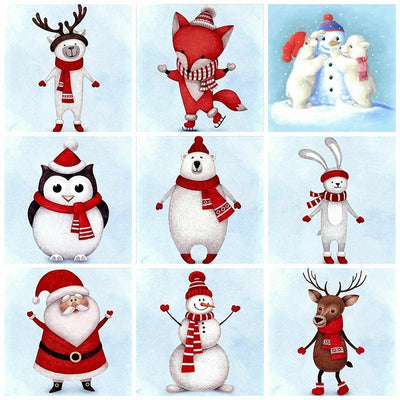 Chirstmas Cartoon Figures