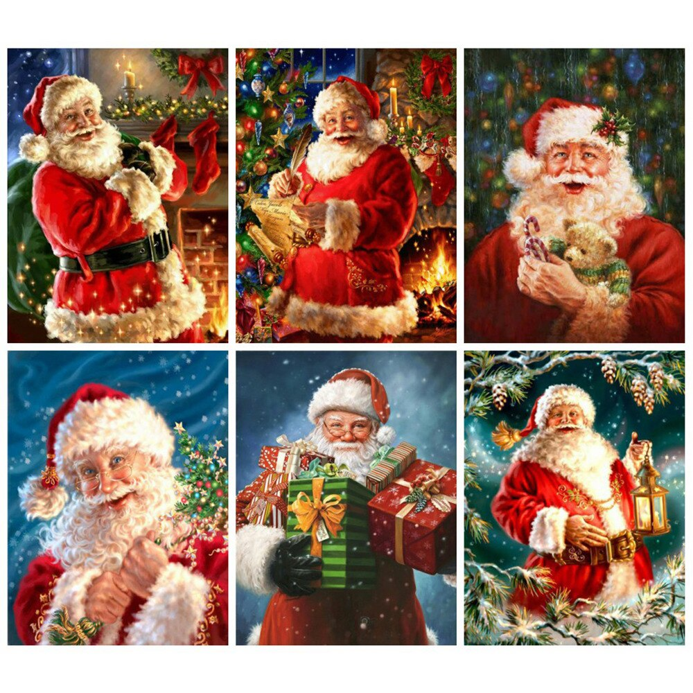 Santa Collage Set