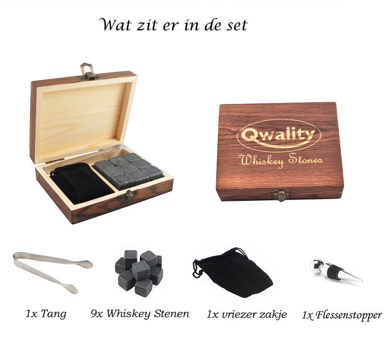 Whiskey Stones Cadeauset