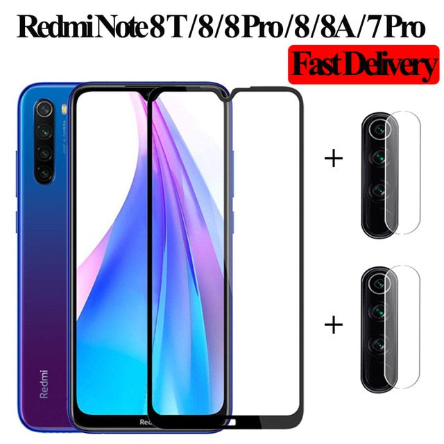 3-in-1 Camera Glass Redmi Note 7 Tempered Glass Screen Protector Xiaomi Redmi Note 7 Glass Film redmi note 7 8T glasses 8 pro