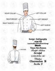 Elegance Chef Jacket - White - Rounded Collar