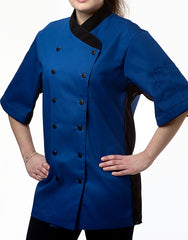 Keep Cool Chef Jacket - Royal Blue - Rounded Collar