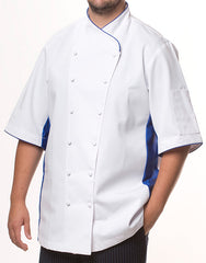 Keep Cool Chef Jacket - White - Rounded Collar