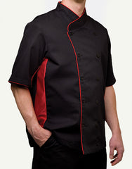 Keep Cool Chef Jacket - Black - Rounded Collar