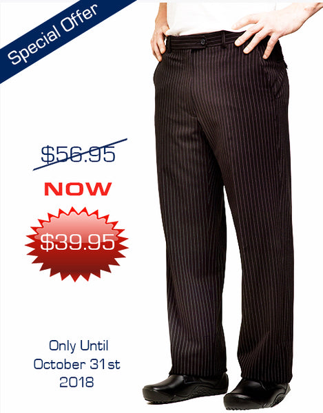 Men's Dress Pants - Black Pinstripe or Blue Pinstripe - Offer