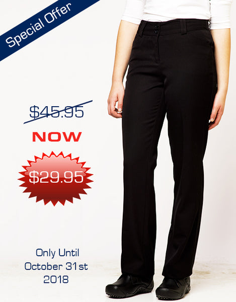 Women's Dress Pants - Black - Offer