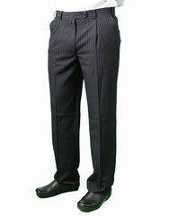 Men's Dress Pants - Black Pinstripe or Blue Pinstripe