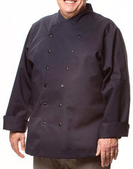 Traditional Chef Jacket - Navy Blue - Rounded collar