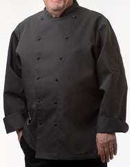 Traditional Chef Jacket - Dark Grey - Straight Collar