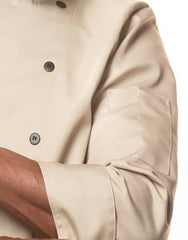 Traditional Chef Jacket - Tan - Straight Collar