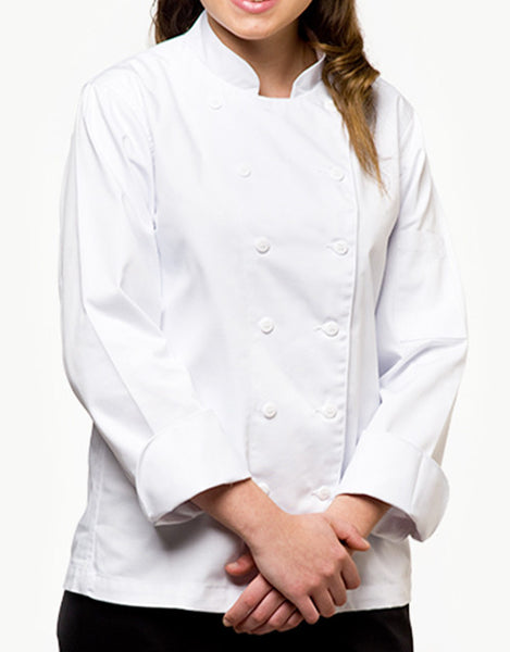 Traditional Chef Jacket - White - Straight Collar
