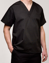 V-Neck Pullover Dishwasher/ Cook Shirt Black