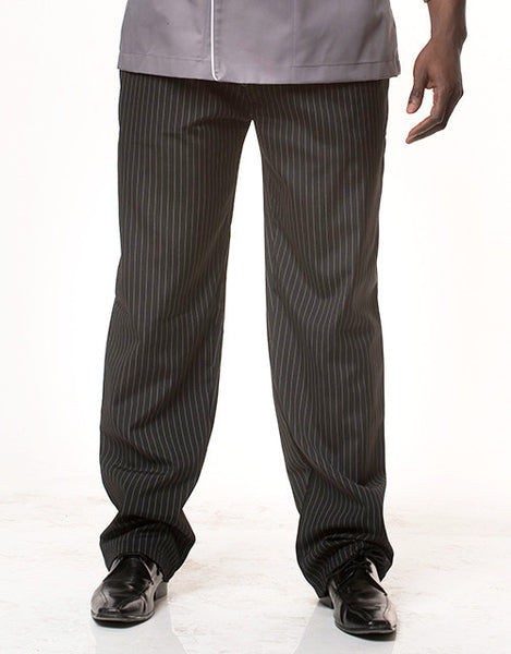 Co-ed Cook Pants Black Pinstripe or Blue Pinstripe