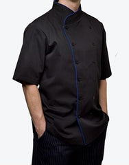 copy old Elegance Chef Jacket - Black - Rounded Collar