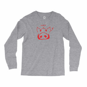 Eco-friendly, hand-printed, custom long sleeve t-shirt that's super soft to the touch and features a call it Arkansas Razorbacks football graphic design