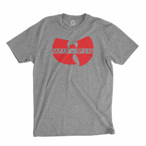 Eco-friendly, hand-printed custom t-shirt that's super soft to the touch and features a Woo Pig Arkansas Razorbacks football design